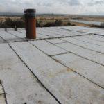techo impermeabilizado con membrana asfaltica con geotextil