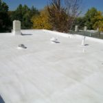 terraza impermeabilizada con geotextil